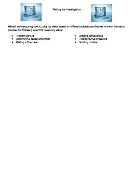 Scientific Method Lab- Melting Ice