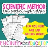 Scientific Method Lab Packet: ANY LAB! With CER and Rubric