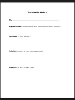 Scientific Method Lab Report (Simple)