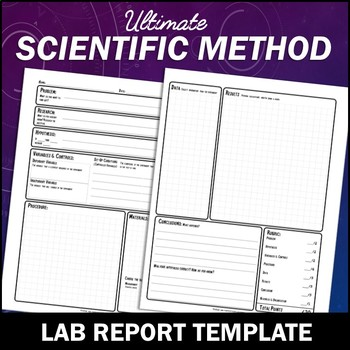 Scientific Method Lab Report Template - Fully Editable