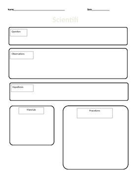 Scientific Method Lab Sheet