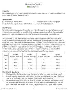 Scientific Method Lab Stations Activity (Differentiated)