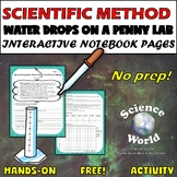 Scientific Method Lab- Water Drops on a Penny {FREE!}