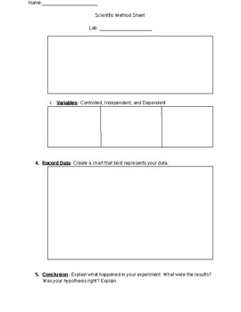 Scientific Method Lab Worksheet
