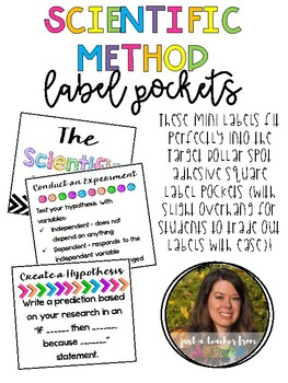 Scientific Method Label Pockets