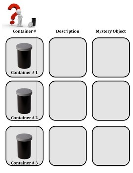 Scientific Method:  MYSTERY CONTAINER INQUIRY LAB!  3 Differentiated Levels