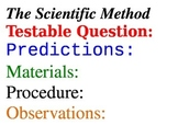 Scientific Method Magnet Headings