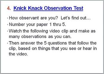 Scientific Method Making Observations:  Observational Tests