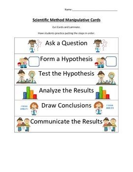 Scientific Method Manipulative Cards