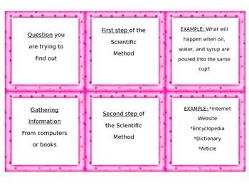 Scientific Method Matching Game
