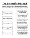 Scientific Method Matching Worksheet