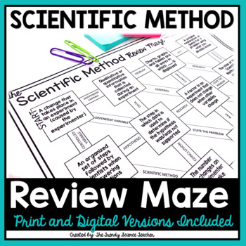 Scientific Method Maze Worksheet