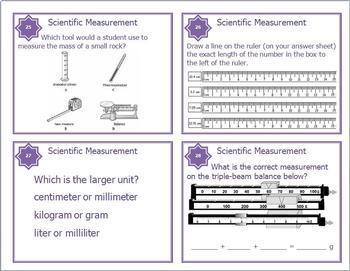 Scientific Method - Measurement - Microscope - Safety Task