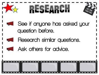 Scientific Method Mini Posters Hollywood Theme