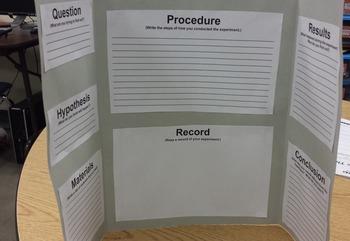 Scientific Method - Mini Science Fair Project Foldable