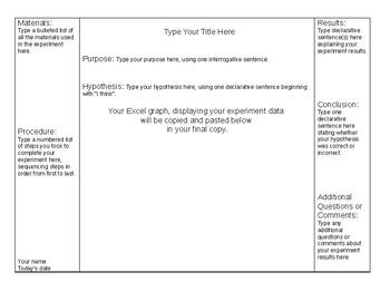 Scientific Method Mini Trifold Board Template