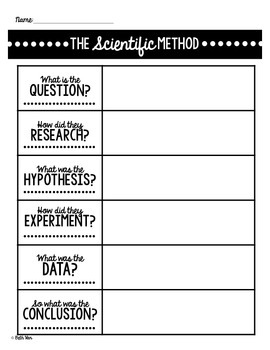 Scientific Method Note Pages {{Simple Notes for Cool Experiments}}