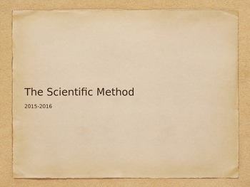Scientific Method Notes