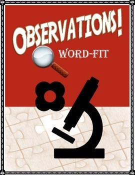 Scientific Method Review Puzzle: Observations Vocabulary