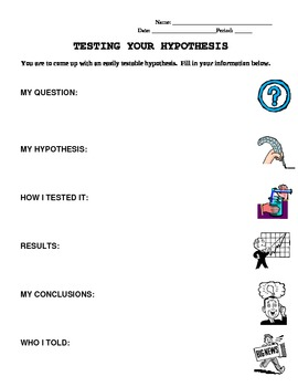 Scientific Method - One Pager Experiment