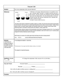 Scientific Method: PASCO Enzyme Lab