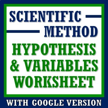 Scientific Method Practice Hypothesis Variables Worksheet Or Homework