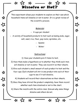 Scientific Method Packet - 3 Experiments Included