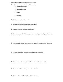 Scientific Method - Paper Airplane Lab