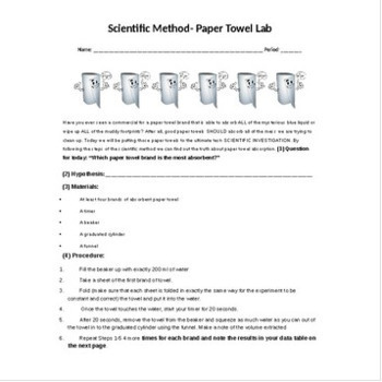 Scientific Method- Paper Towel Lab