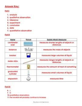 Scientific Method Part II Quiz Review