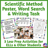 Scientific Method Poster, Word Search, and Writing Task