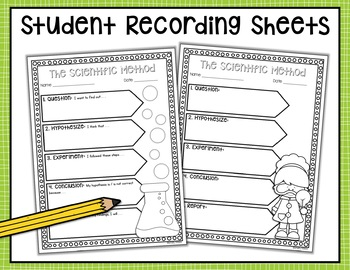 Scientific Method Posters and Recording Sheets