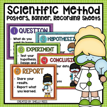 Scientific Method Posters, Banner, Recording Sheets