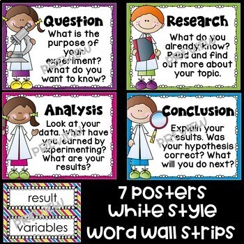 Scientific Method Posters: Big and Bold Version