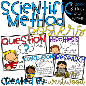 Scientific Method Posters (In Color & Black and White)