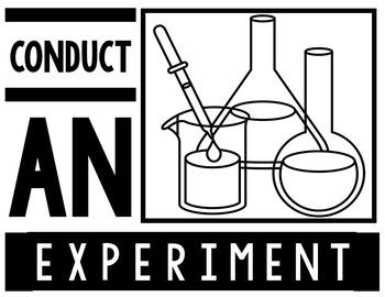 Scientific Method Posters & Lab Report {Black & White}