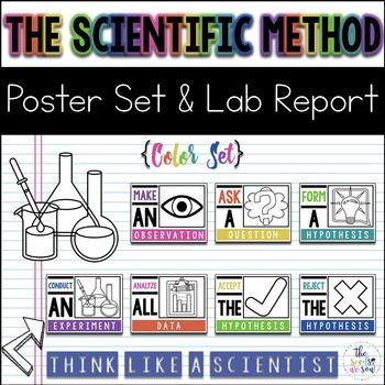 Scientific Method Posters & Lab Report {Color}