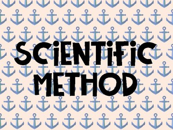 Scientific Method Posters - Nautical Themed