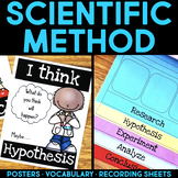 Scientific Method Posters & Science Experiment Recording Sheets