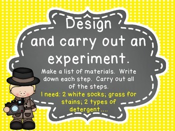 Scientific Method Posters - Science Files - CSI Theme Primary Polka dots