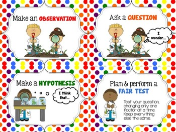 Scientific Method Posters and Sort Cards