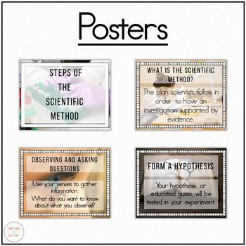 Scientific Method Posters and Worksheet