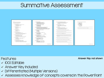 Scientific Method PowerPoint, Notes & Exam (Differentiated and Editable)