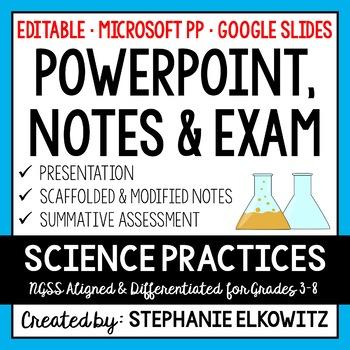 Scientific Method PowerPoint, Notes & Exam (Differentiated