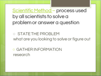 Scientific Method -- PowerPoint, Notes, Review Worksheets, Kinesthetic Game