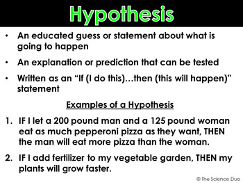 Scientific Method - PowerPoint and Notes