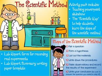 Scientific Method BUNDLE - Powerpoint Slideshow, Experiment Log and more!