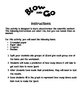 Scientific Method Practice: Blow and Go
