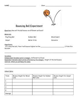 Scientific Method Practice- Bouncing Ball Experiment