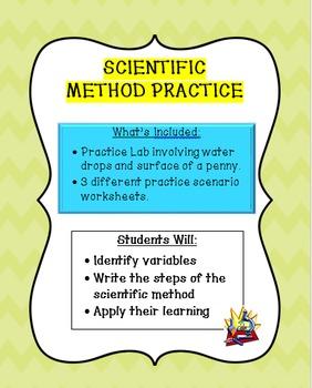 Scientific Method Practice:  Scenarios & Lab